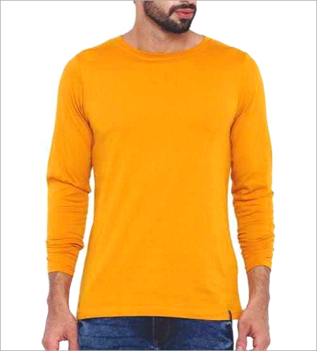 Mens Plain Round Neck T-Shirt