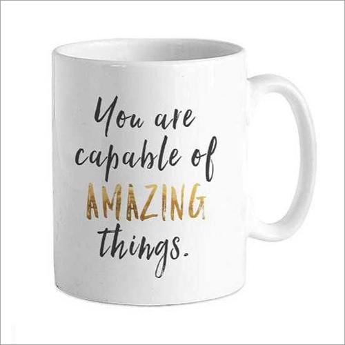 320ml White Printed Coffee Mug