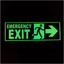 Emergency Exit Auto Glow LED Signage