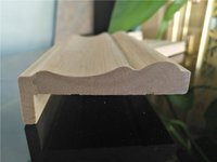 Poplar wood decorative  Mouldings with customized shape