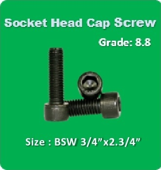 Socket Head Cap Screw BSW 3 4x2.3 4