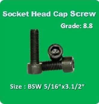Socket Head Cap Screw BSW 5 16x3.1 2