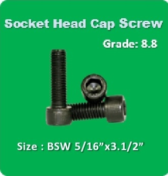 Socket Head Cap Screw BSW 5 16x3.1 2