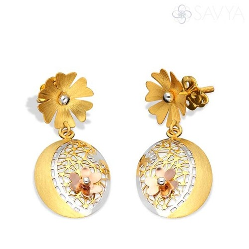 Designer Oval Shape Earrings
