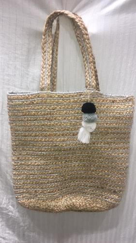 Cream Handcrafted Jute Braided Bags