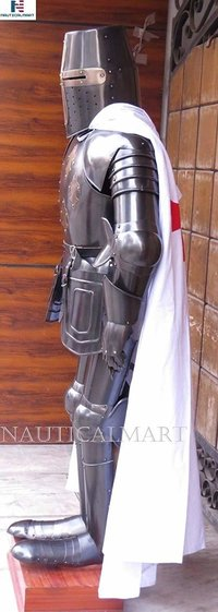 NauticalMart Medieval Templar Full Suit of Armor Dark Knight Costume - LARP