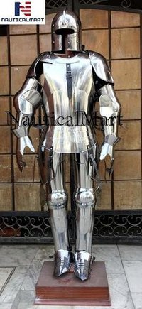 NauticalMart Milanese Suit of Armor - LARP Armor Wearable Halloween Costume