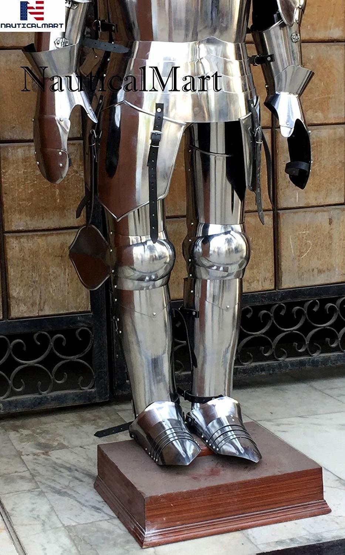 NauticalMart Milanese Suit of Armor - LARP Armor Wearable Halloween Costume