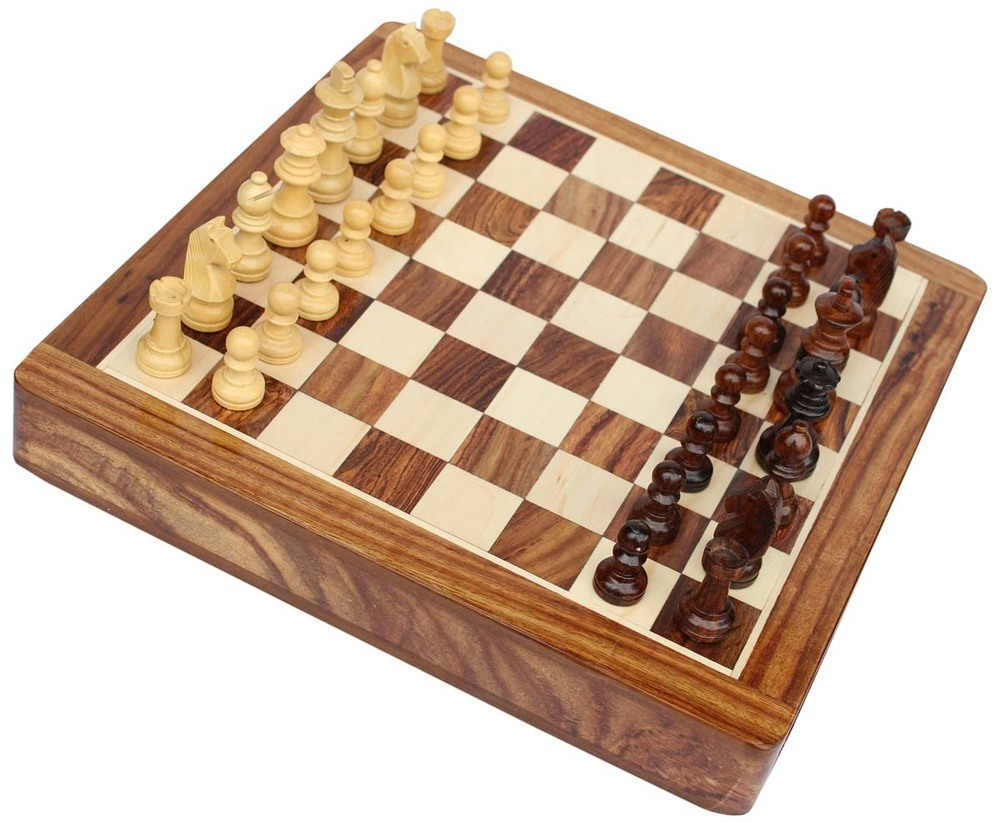 Square Chess Board & Chessmen Set With Storage Drawer Certifications: 1-Iso 9001:2015        -    Quality Management System 