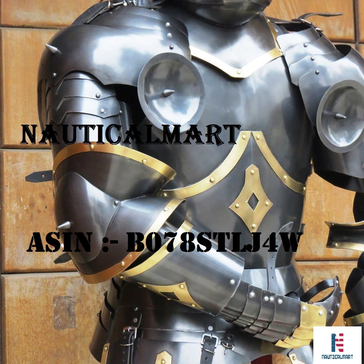 NAUTICALMART Medieval Knight Half Suit of Armor with Horns