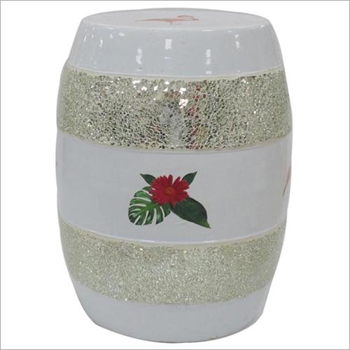 Ceramic Cylindrical Stool