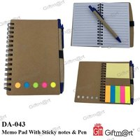 Memo Pad With Sticky Notes & Pen