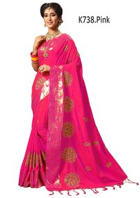 Heavy Embroidery Art Silk Saree collection