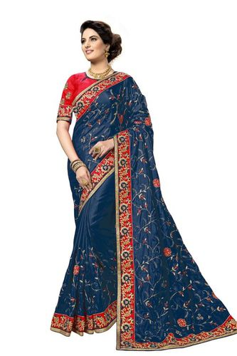 Heavy embroidered Silk Saree collection