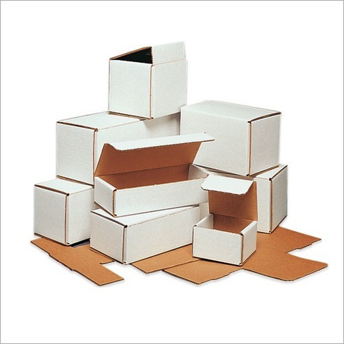 White Mono Corrugated Box