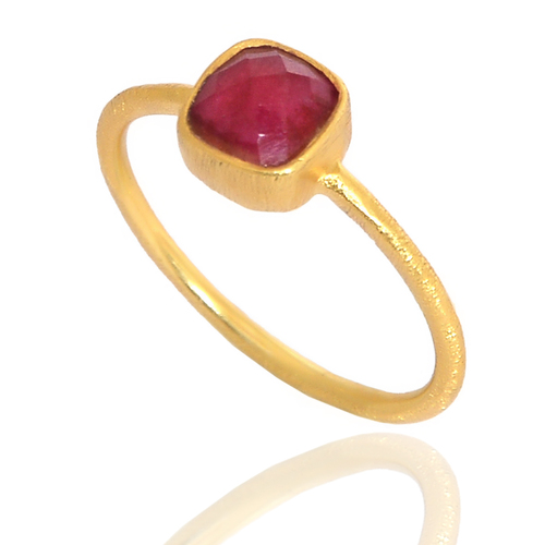 Ruby  925 Silver Matting Ring