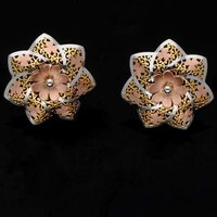 Heptagon Flower Shape Gold Tops