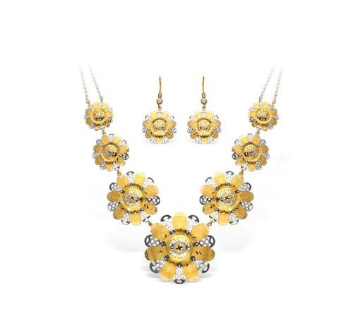 Flower Type Italian Necklace Set