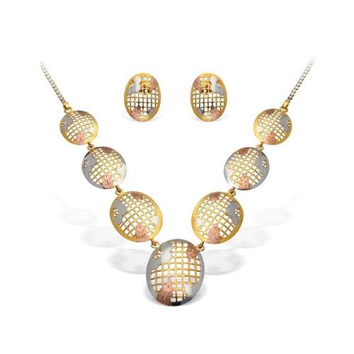 Circular Shape Necklace Set