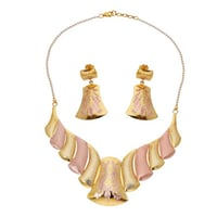 New Light Weighted Gold Necklace Set