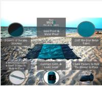 Easy To Pack Outdoor 210T Nylon Beach Blanket Picnic Blanket
