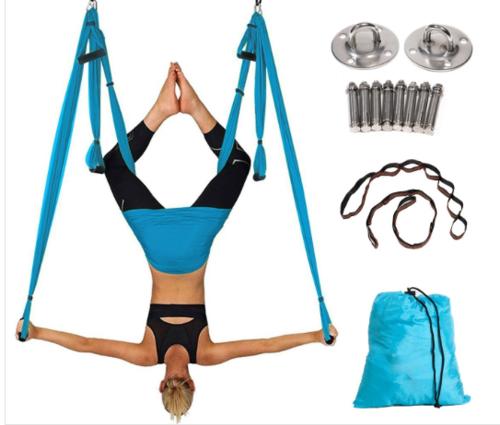 Aerial Yoga Swing-Ultra Strong Antigravity Yoga Hammock/Sling/Inversion Tool for Air Yoga Inversion Exercises