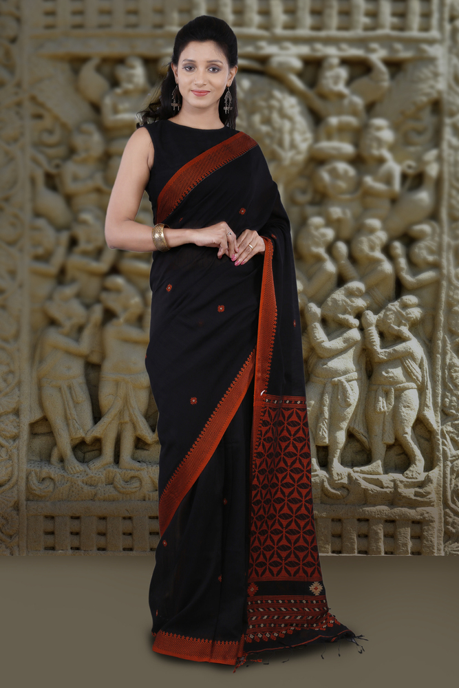 Pure Cotton Handwoven Saree