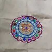 Embroidery Pillow Cover (Round design)