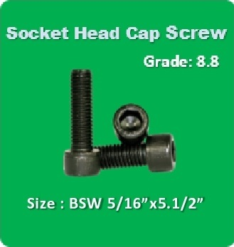 Socket Head Cap Screw BSW 5 16x5.1 2