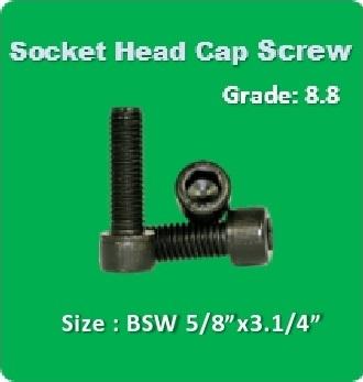 Socket Head Cap Screw BSW 5 8x3.1 4