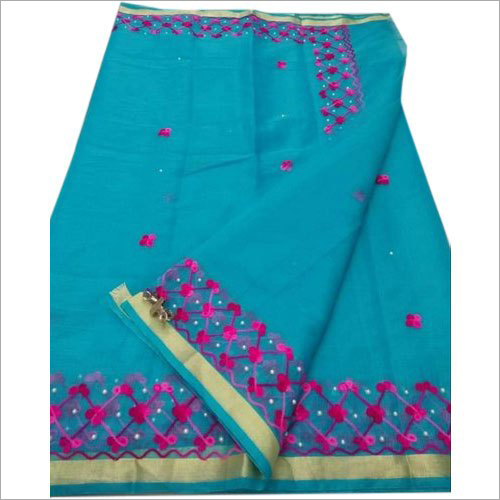 Ladies Kota Embroidered Work Saree