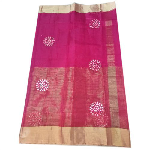 Ladies Modern Gota Patti Work Saree