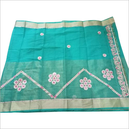 Ladies Designer Kota Half Tissue Saree