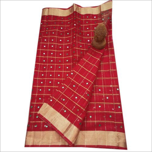 Ladies Mirror Work Saree