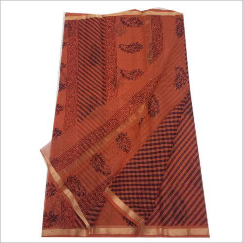 Ladies Kota Cotton Printed Saree