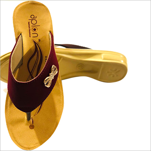Ladies PU Sole Slippers