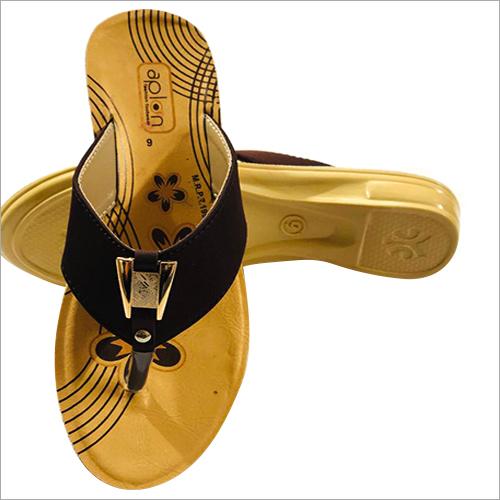 Ladies PU Flat Slippers