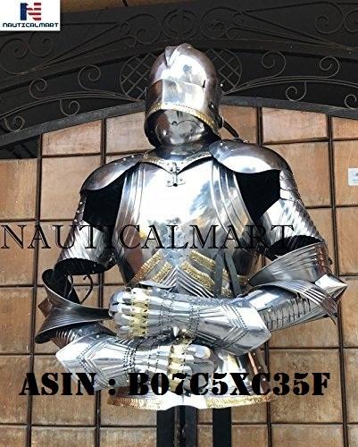 NauticalMart Medieval Gothic Half Suit of Armor Combat Knight Halloween Costume