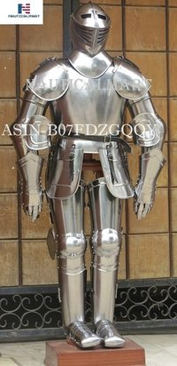 NAUTICALMART Medieval Knight Suit of Armor Combat Full Body Armor Suit IOTC Armoury