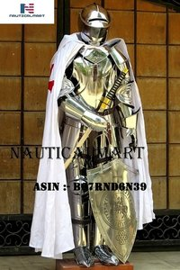 NauticalMart Knight Suit of Armor Combat Full Body Armor Halloween Costume Men's Costumes
