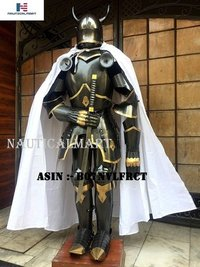 NauticalMart Medieval Knight Gothic Full Suit of Armor Horns 15th Century Body Armour