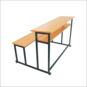 Wooden 2 Seater School Bench