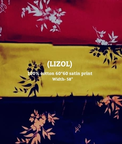 LIZOL 100% cotton 60*60 satin print