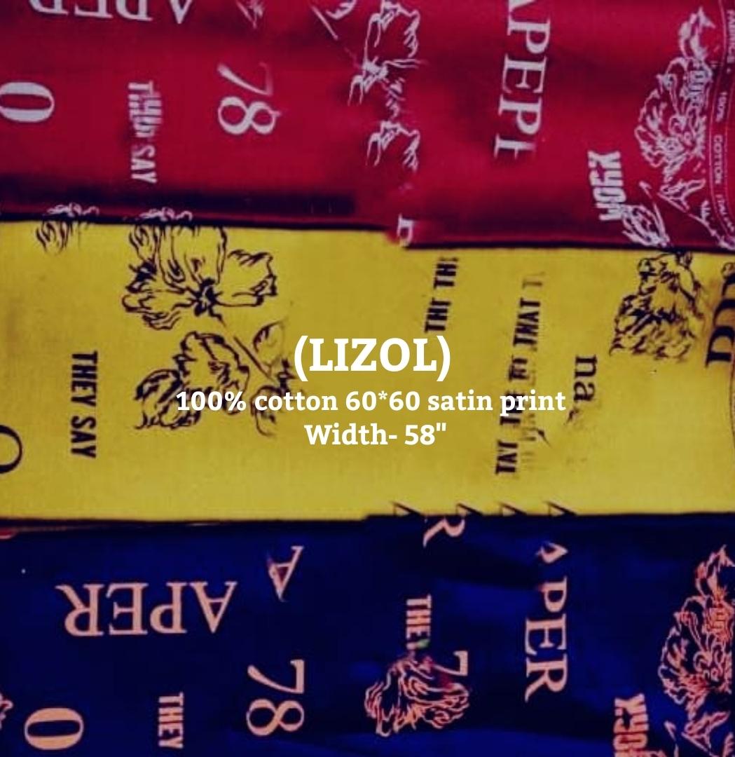 LIZOL 100% cotton 60*60 satin print