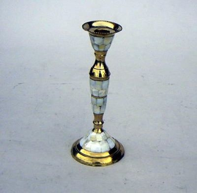 Candle Holder, Mother Of Pearl