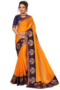 Chiffon Printed Lace Border Saree