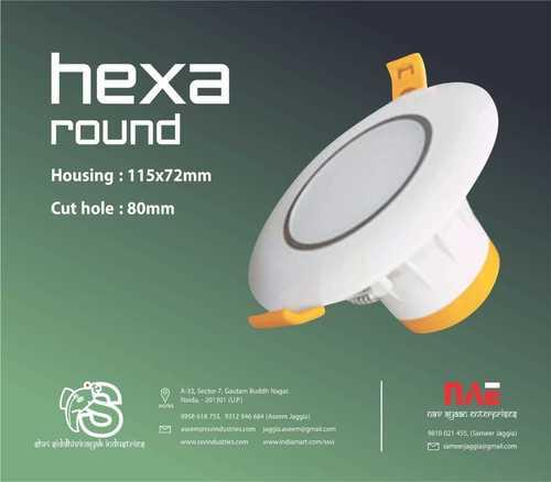 hexa round concealed light