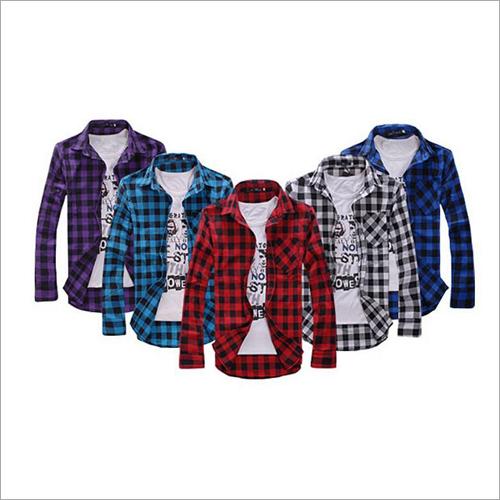 Cotton Mens Check Shirt
