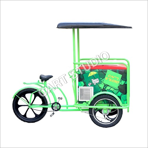 Alloy Ice Cream Cart with Tube Less Tyre