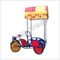 Ice Cream Tricycle Cart With Wheel Cover